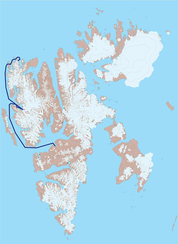 Kart 1 - til Spitsbergens nordkyst