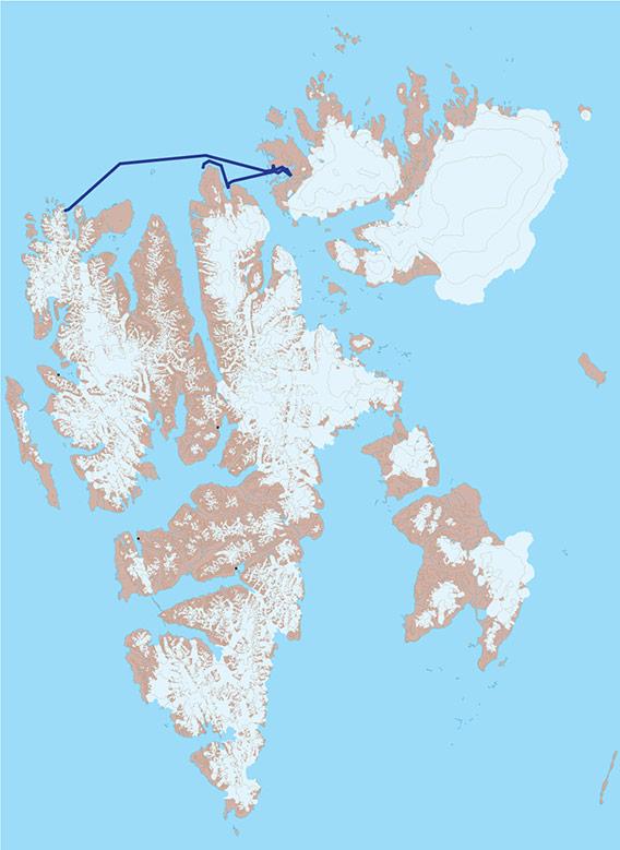 Kart 2 - Nordaustlandet