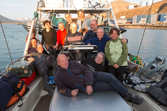 Around Spitsbergen on board SY Arctica II, 04-22 August, 2014 - Group photo 1