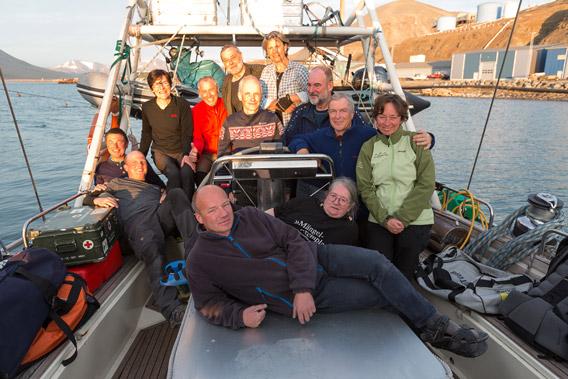 Around Spitsbergen on board SY Arctica II, 04-22 August, 2014 - Group photo 1