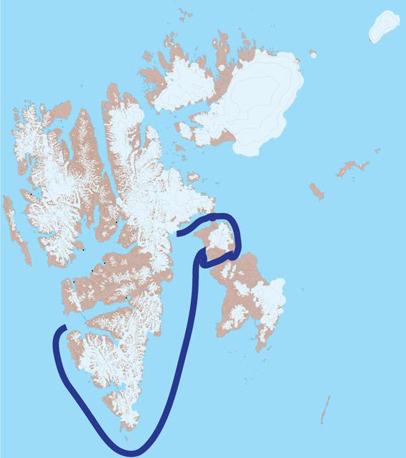 Svalbard kart 03 - Heleysund og Barentsøya