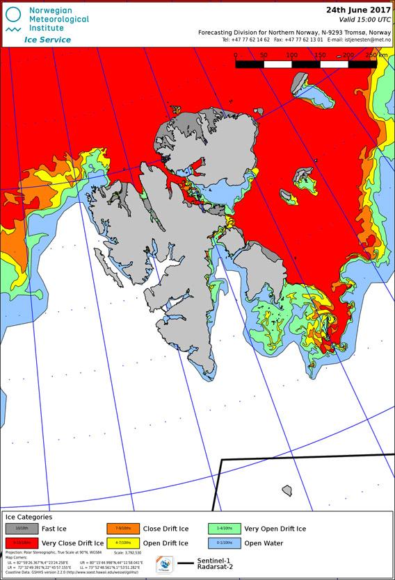 Ice Map Svalbard 2017/06/24